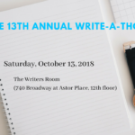 Save the Date: the 2018 Write-A-Thon!!