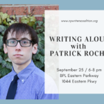Writing Aloud with Patrick Roche!