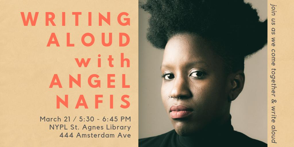 Writing Aloud Returns with Angel Nafis!