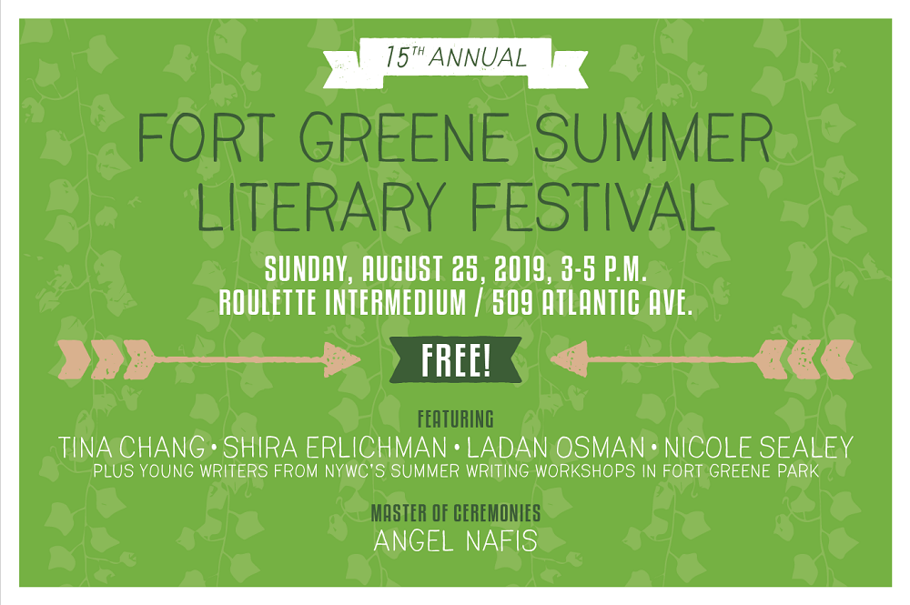 The 15th Annual Fort Greene Summer Literary Festival!