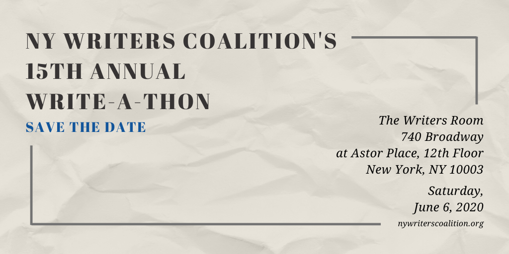 Save the Date: Our 15th Annual Write-A-Thon!